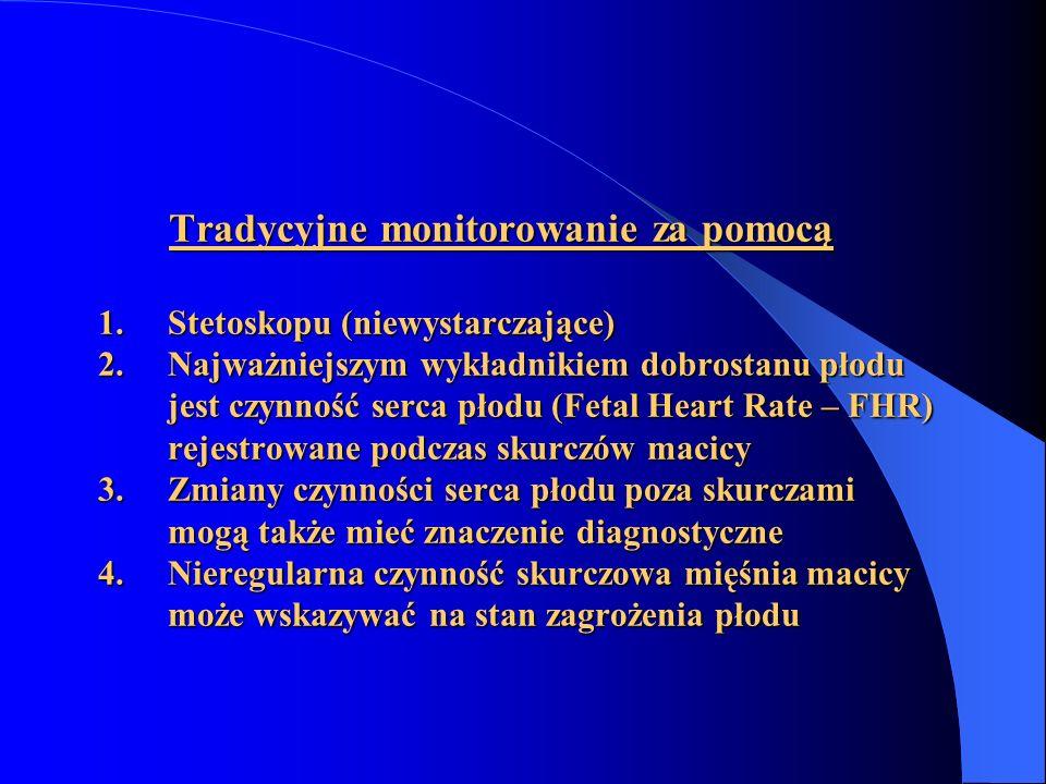 Tradycyjne monitorowanie za pomocą 1. Stetoskopu (niewystarczające) 2