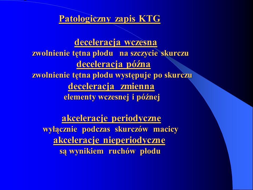 Patologiczny zapis KTG