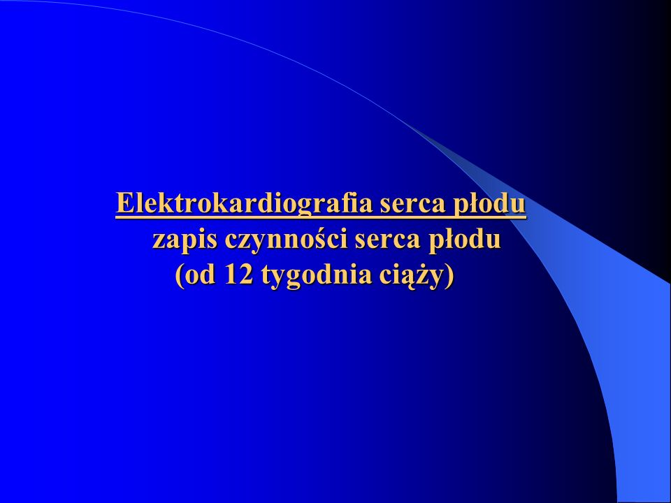 Elektrokardiografia serca płodu