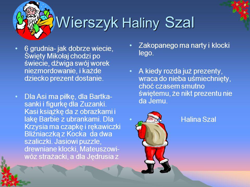 Wierszyk Haliny Szal Zakopanego ma narty i klocki lego.