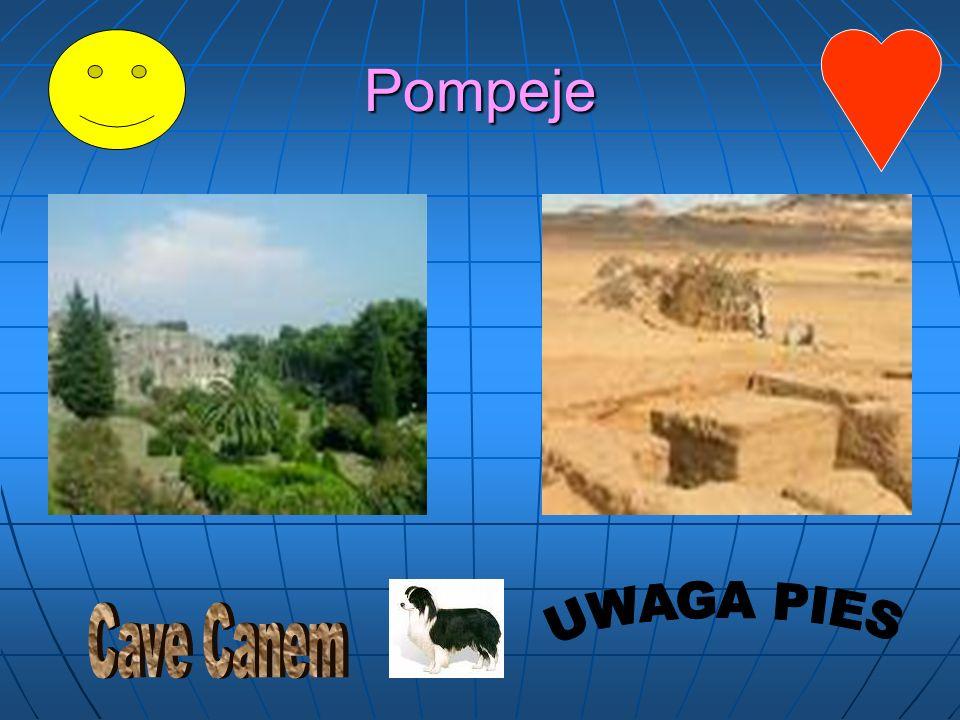 Pompeje Cave Canem UWAGA PIES