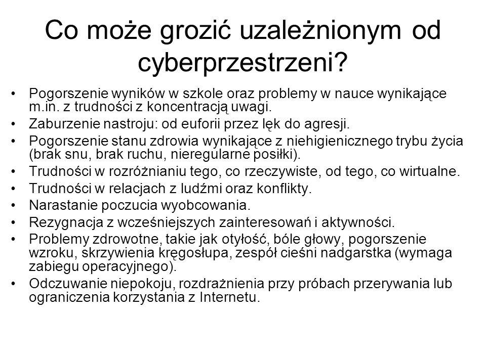 Co może grozić uzależnionym od cyberprzestrzeni