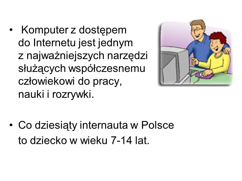 Komputer z dostępem do Internetu jest jednym. z najważniejszych narzędzi służących współczesnemu człowiekowi do pracy,