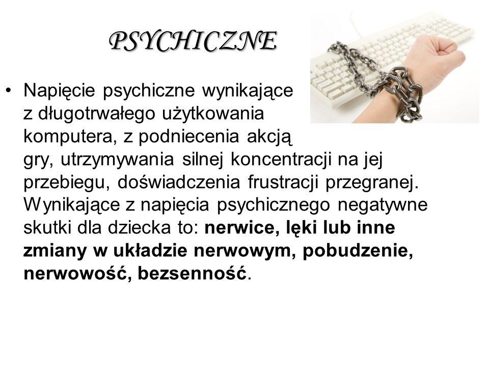 PSYCHICZNE Napięcie psychiczne wynikające z długotrwałego użytkowania