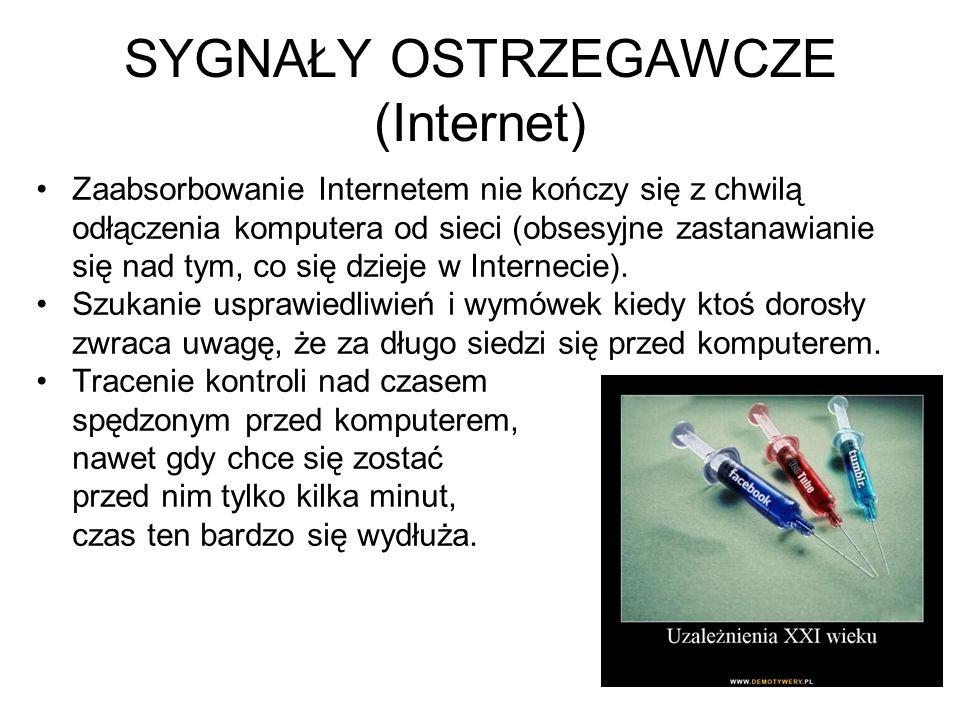 SYGNAŁY OSTRZEGAWCZE (Internet)