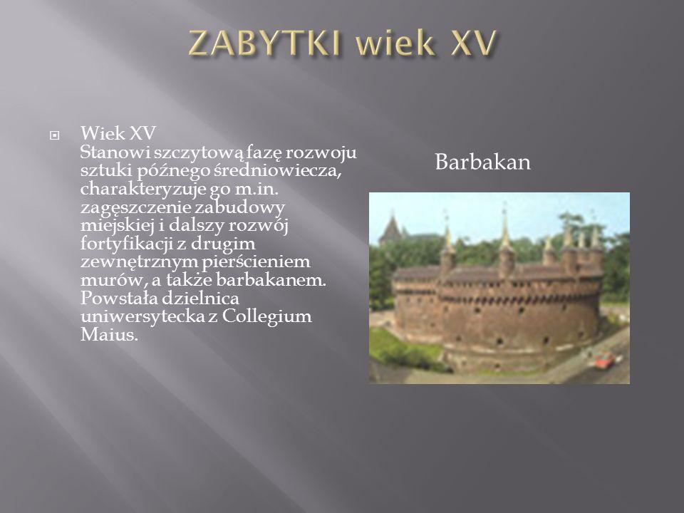 ZABYTKI wiek XV Barbakan
