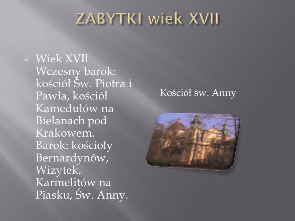 ZABYTKI wiek XVII