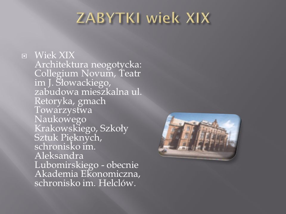 ZABYTKI wiek XIX