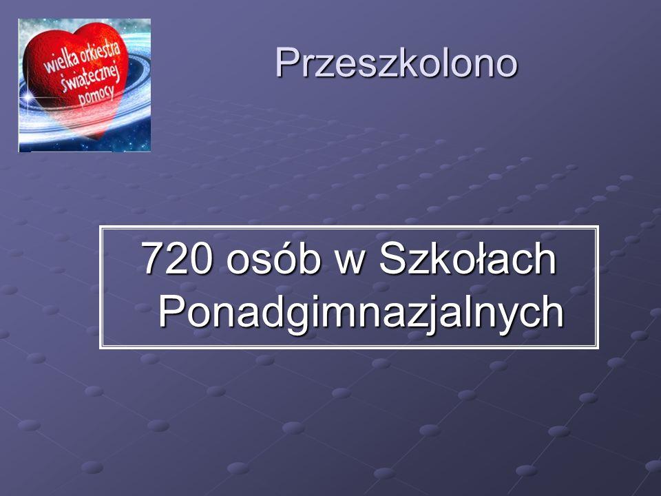 720 osób w Szkołach Ponadgimnazjalnych