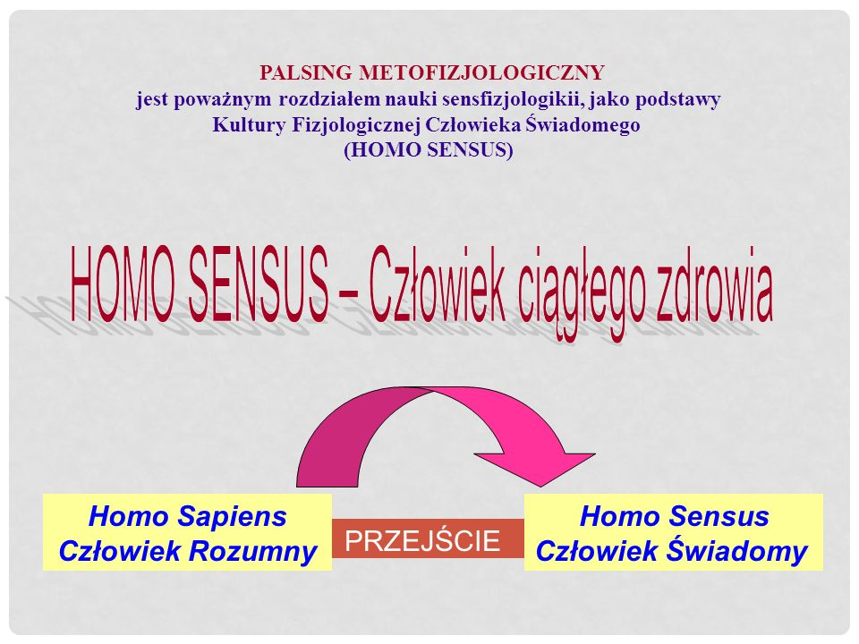 HOMO SENSUS – Człowiek ciągłego zdrowia