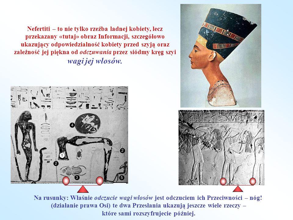 Nefertiti – to nie tylko rzeźba ladnej kobiety, lecz przekazany «tutaj» obraz Informacji, szczegółowo ukazujący odpowiedzialność kobiety przed szyją oraz zależność jej piękna od odczuwania przez siódmy kręg szyi