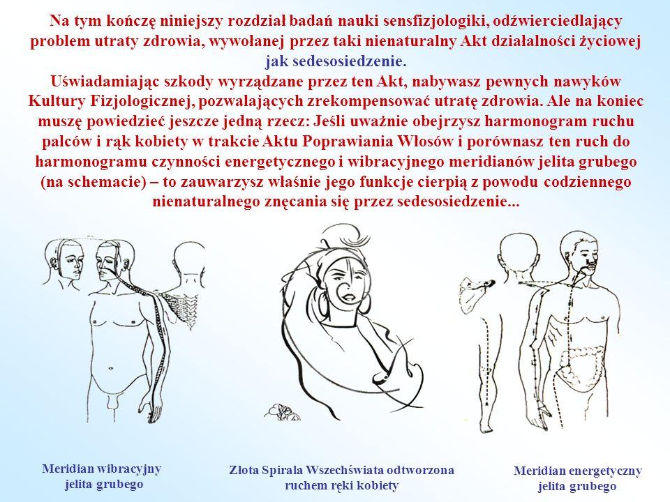 Na tym kończę niniejszy rozdział badań nauki sensfizjologiki, odźwierciedlający problem utraty zdrowia, wywołanej przez taki nienaturalny Akt działalności życiowej jak sedesosiedzenie.
