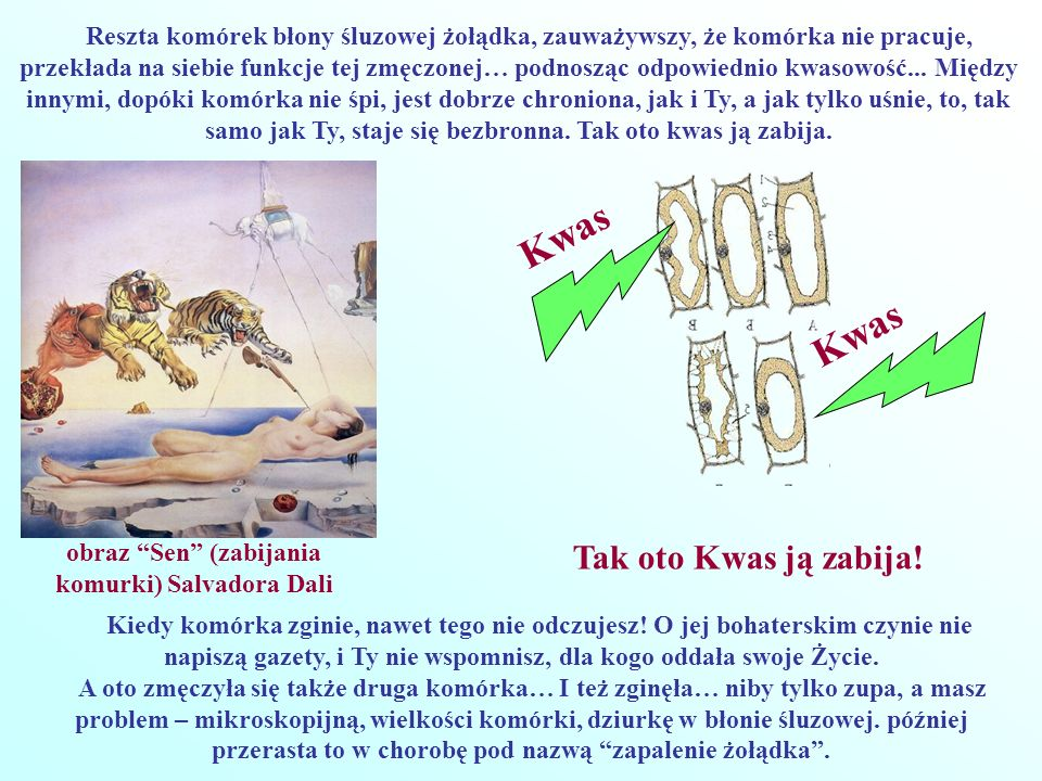 obraz Sen (zabijania komurki) Salvadora Dali