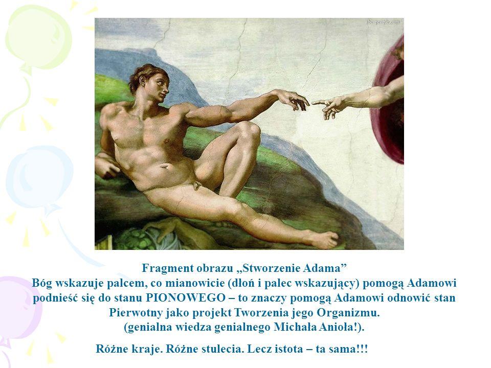 """Fragment obrazu """"Stworzenie Adama"""