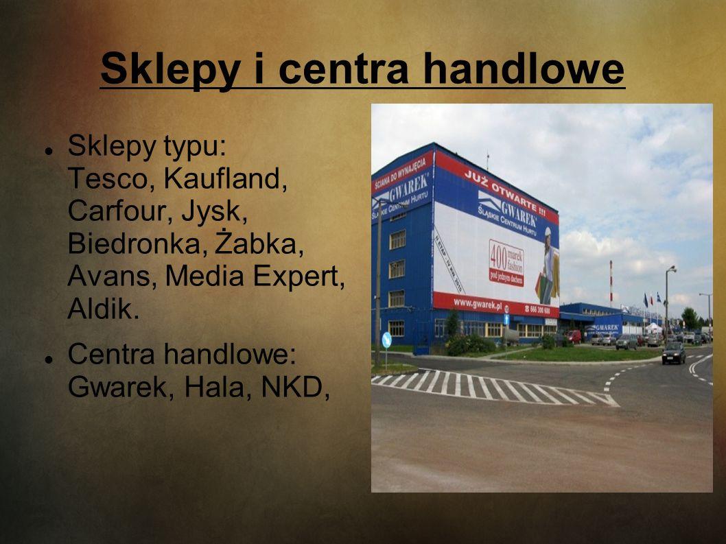 Sklepy i centra handlowe