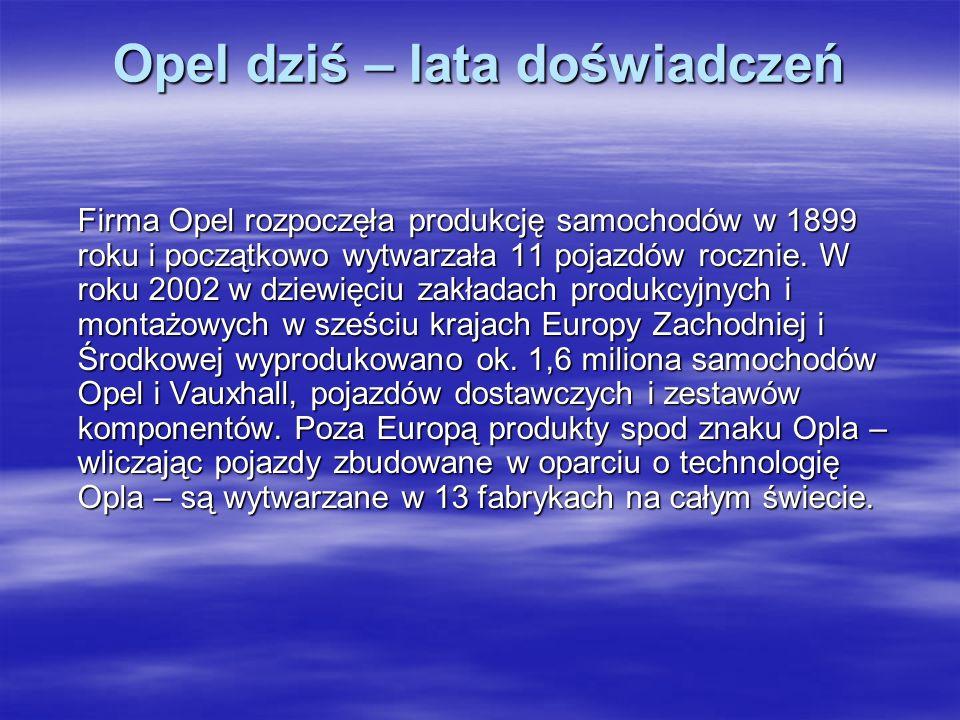 Opel dziś – lata doświadczeń