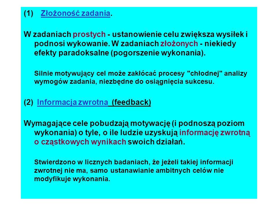 (2) Informacja zwrotna (feedback)