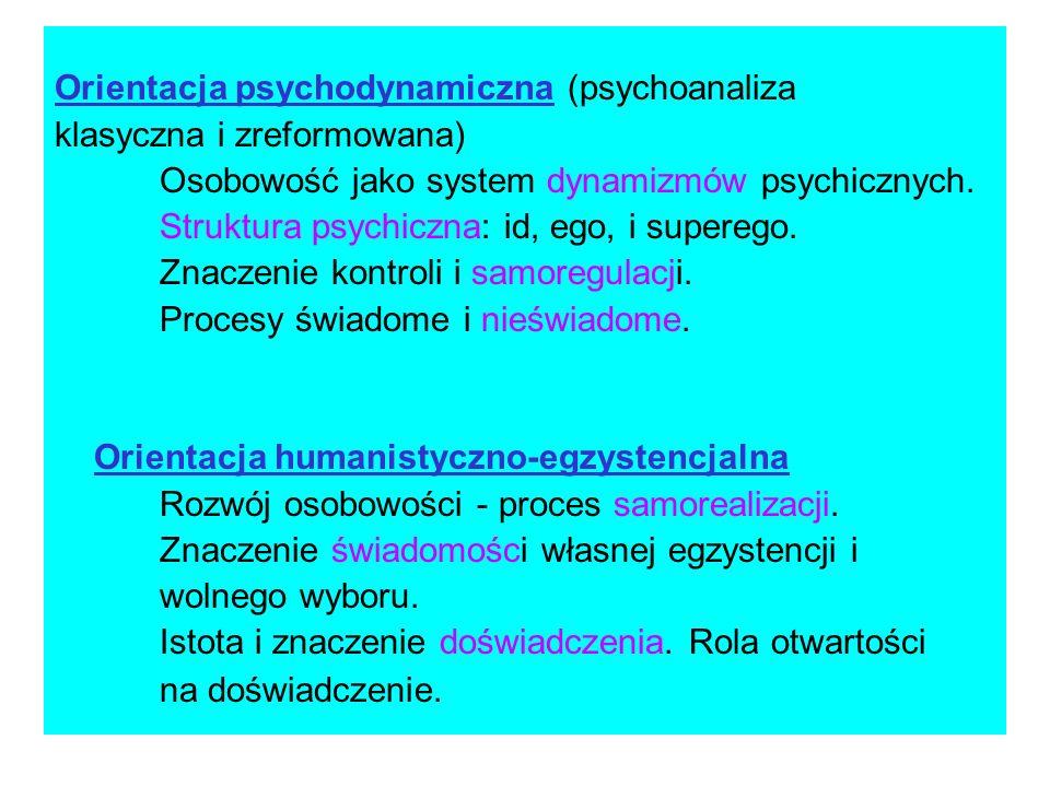 Orientacja psychodynamiczna (psychoanaliza