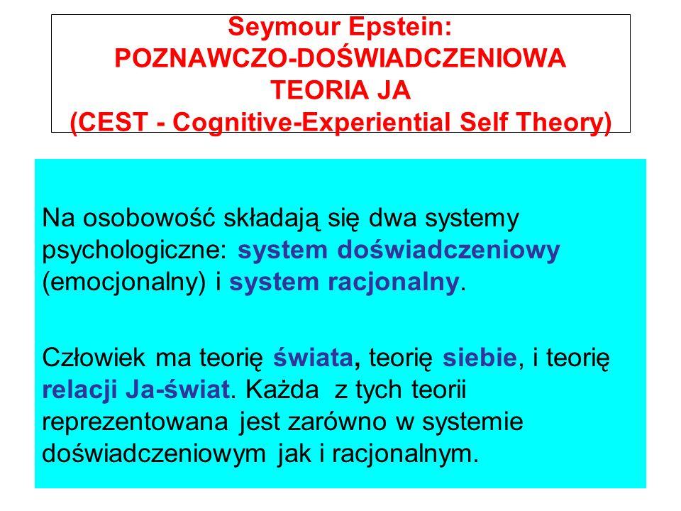 Seymour Epstein: POZNAWCZO-DOŚWIADCZENIOWA TEORIA JA (CEST - Cognitive-Experiential Self Theory)