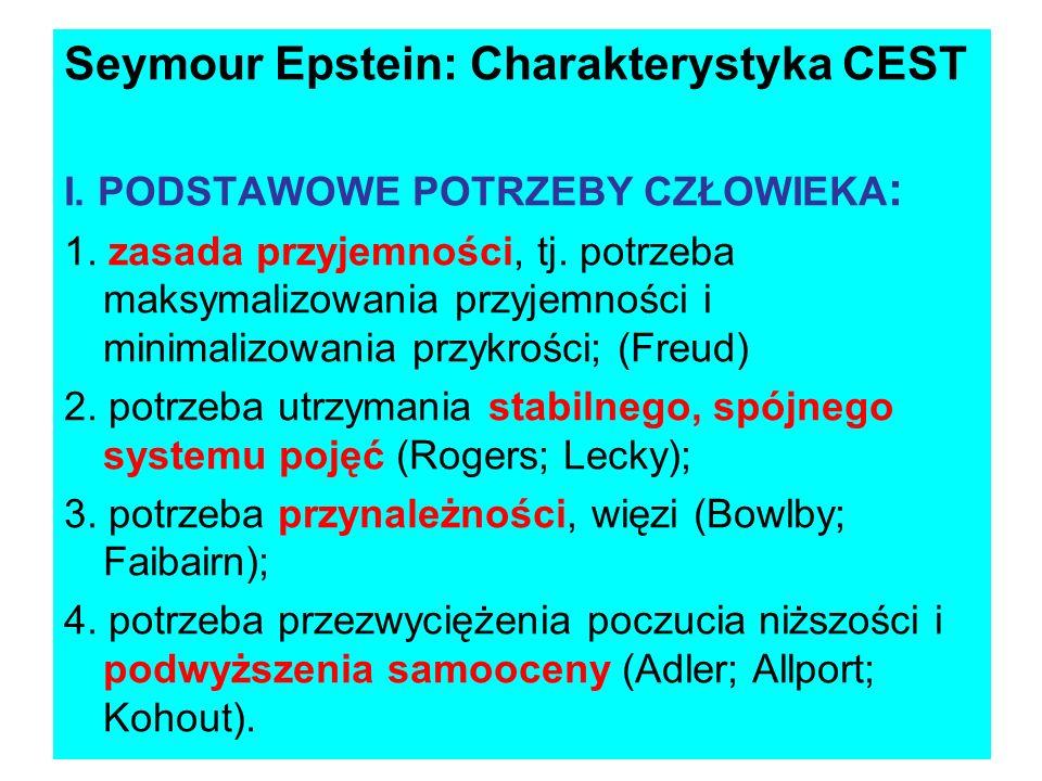 Seymour Epstein: Charakterystyka CEST
