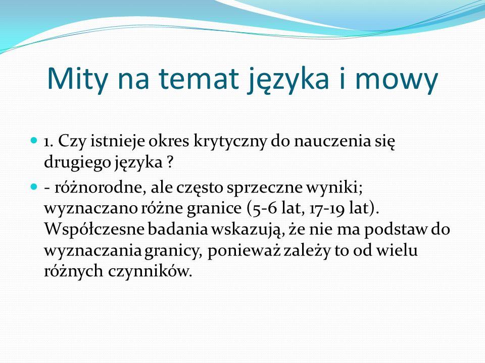 Mity na temat języka i mowy