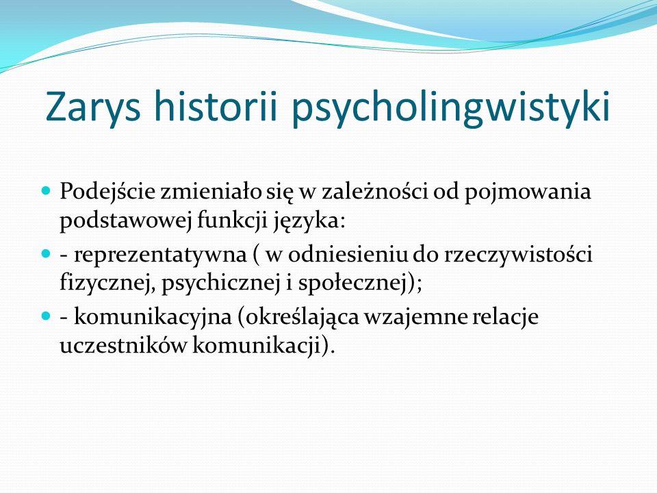 Zarys historii psycholingwistyki
