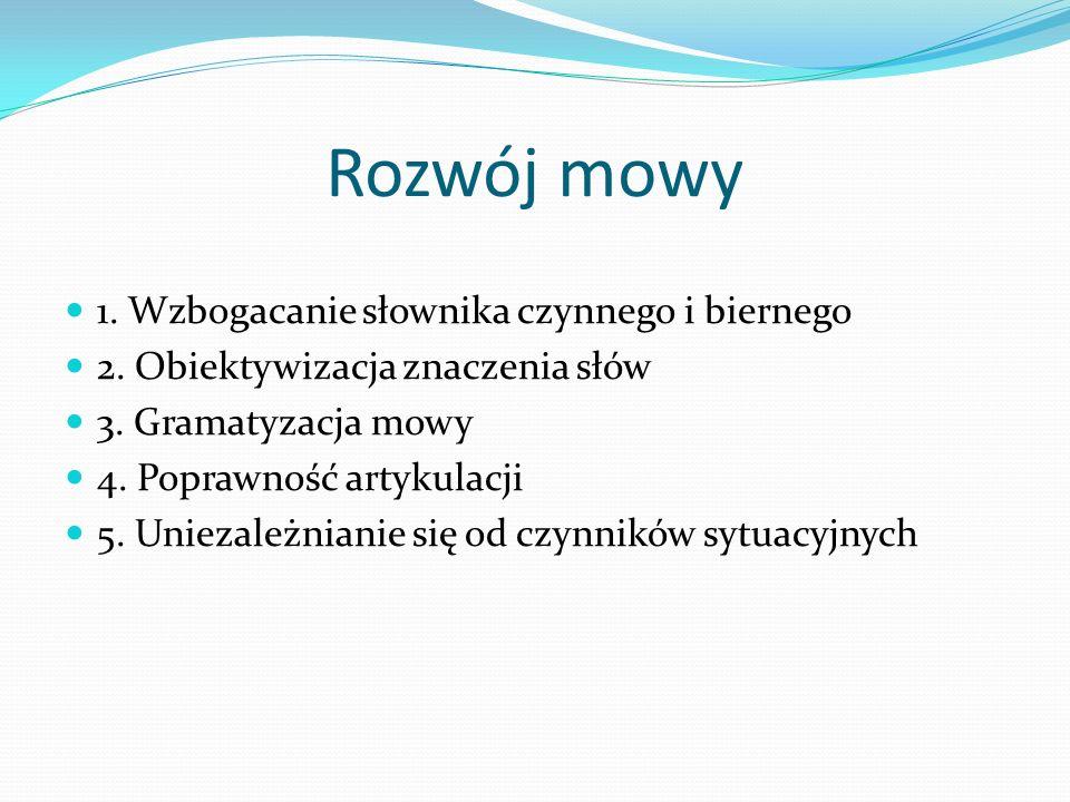 Rozwój mowy 1. Wzbogacanie słownika czynnego i biernego