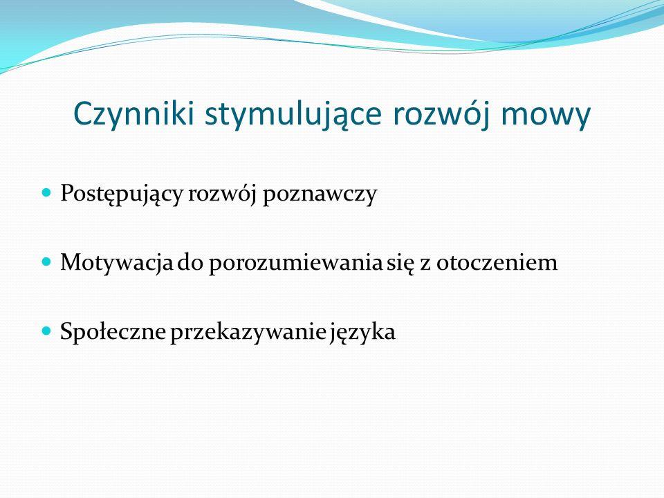 Czynniki stymulujące rozwój mowy