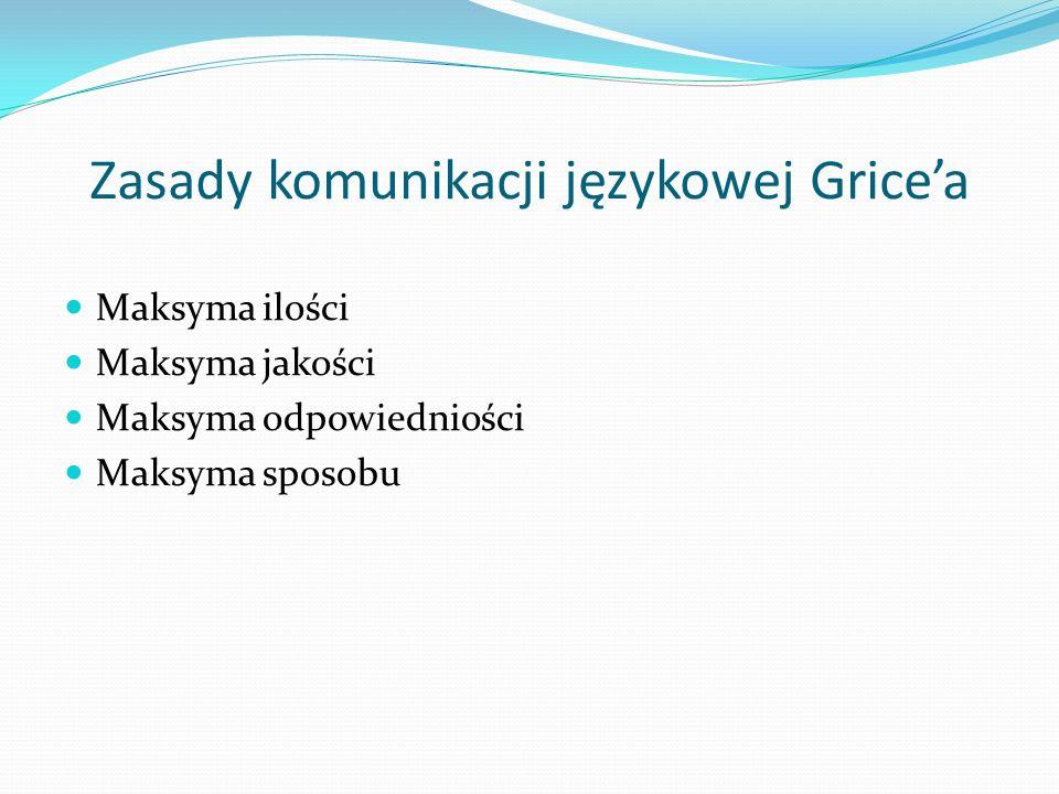 Zasady komunikacji językowej Grice'a