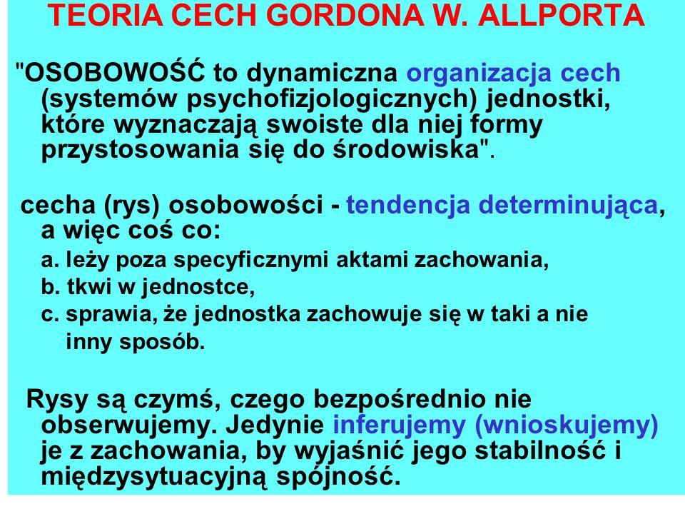 TEORIA CECH GORDONA W. ALLPORTA
