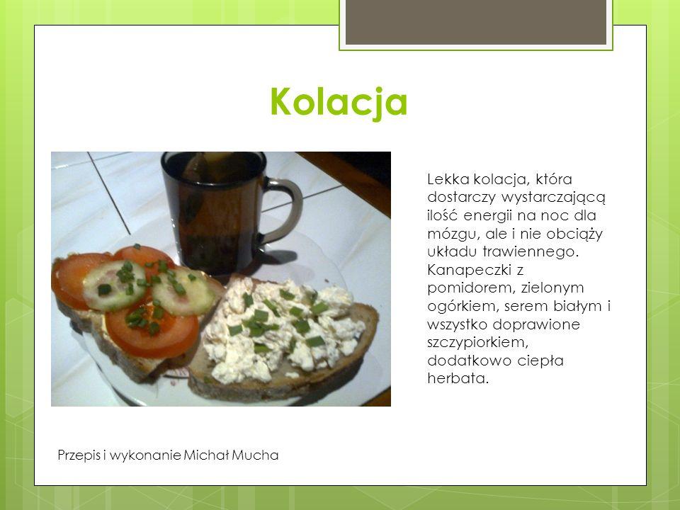 Kolacja Lekka kolacja, która dostarczy wystarczającą ilość energii na noc dla mózgu, ale i nie obciąży układu trawiennego.
