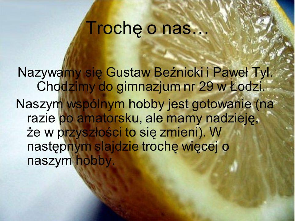 Trochę o nas… Nazywamy się Gustaw Beźnicki i Paweł Tyl. Chodzimy do gimnazjum nr 29 w Łodzi.