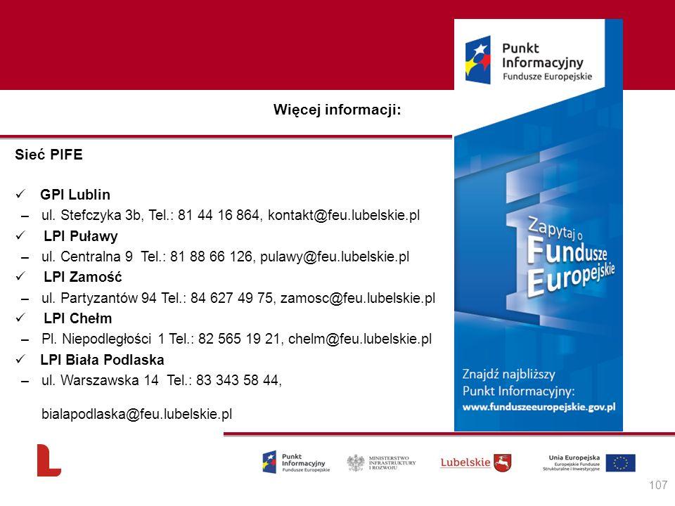 Więcej informacji: Sieć PIFE GPI Lublin