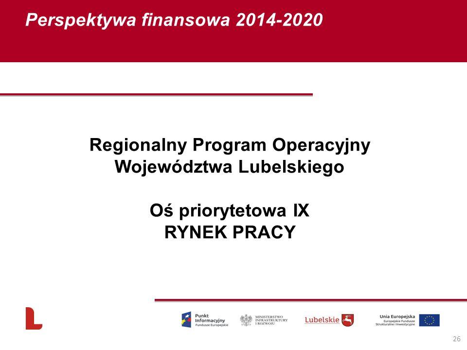 Regionalny Program Operacyjny Województwa Lubelskiego