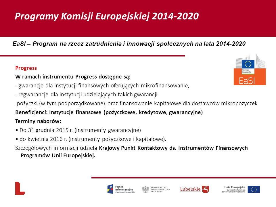 Programy Komisji Europejskiej 2014-2020