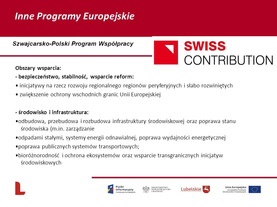Inne Programy Europejskie