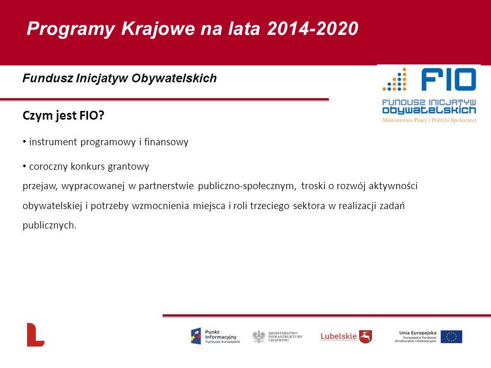 Programy Krajowe na lata 2014-2020