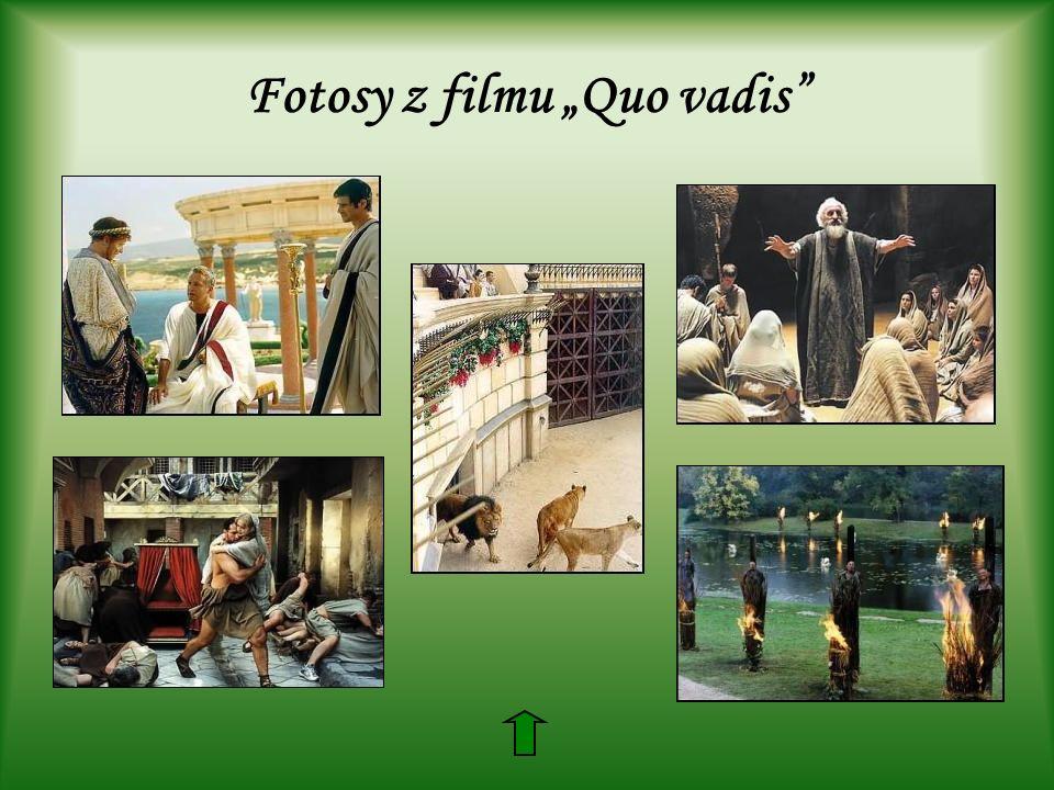 """Fotosy z filmu """"Quo vadis"""