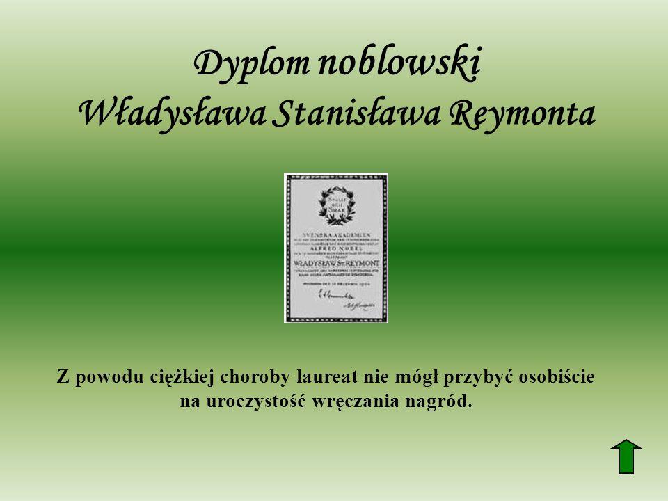 Dyplom noblowski Władysława Stanisława Reymonta
