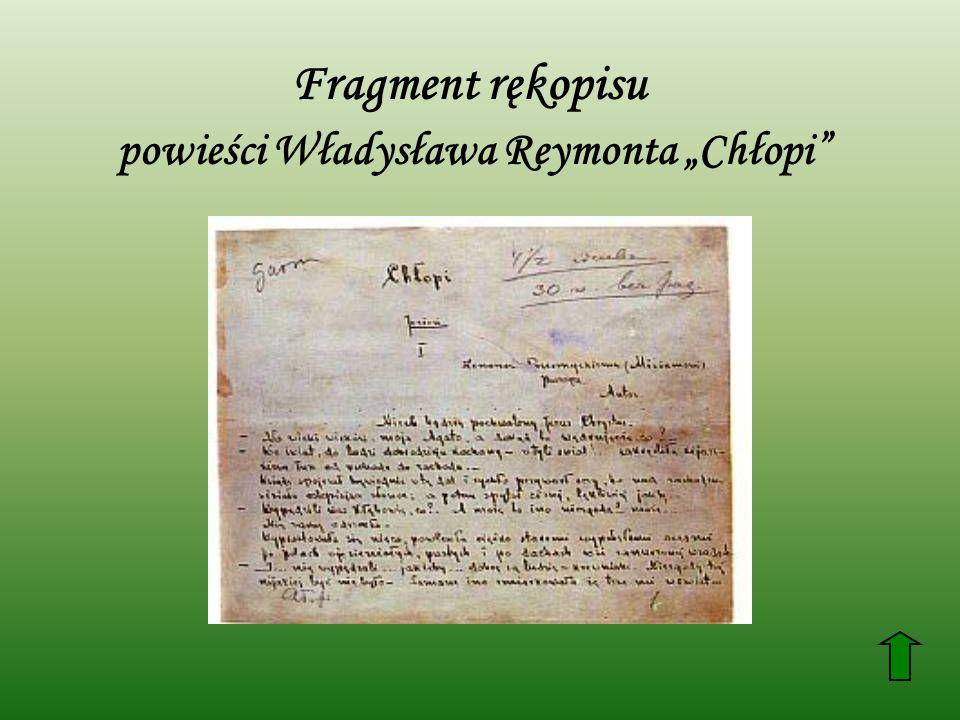 """powieści Władysława Reymonta """"Chłopi"""