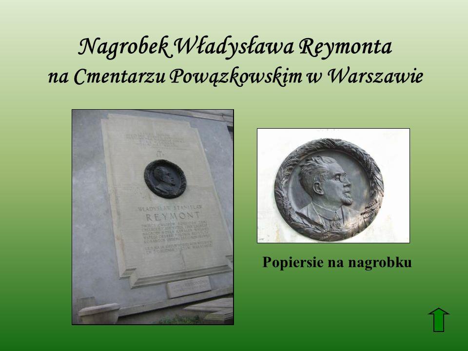 Nagrobek Władysława Reymonta na Cmentarzu Powązkowskim w Warszawie