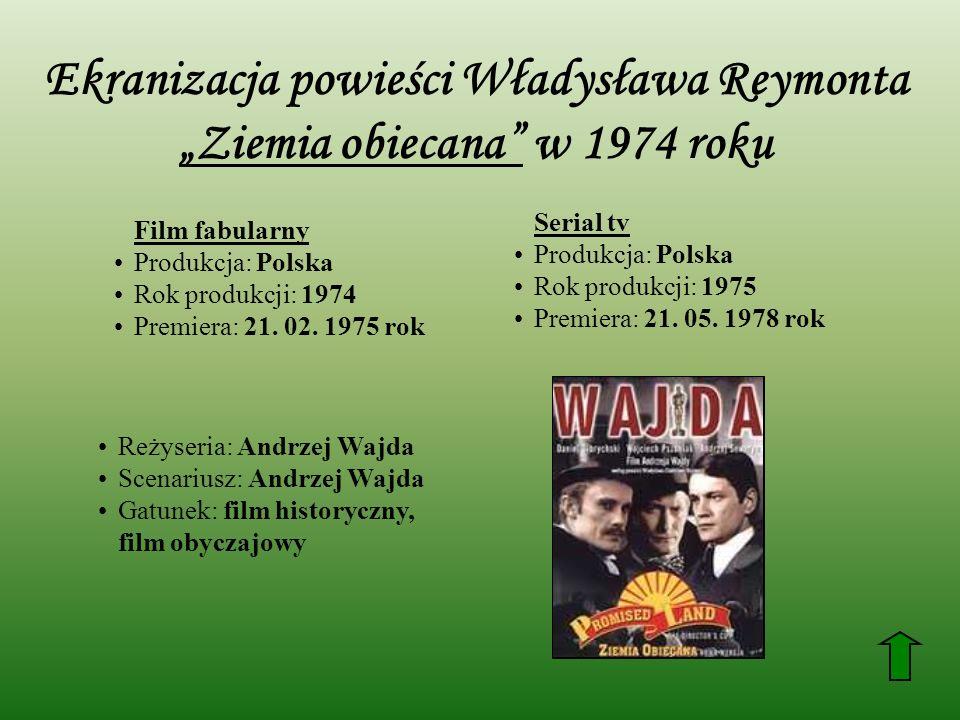 """Ekranizacja powieści Władysława Reymonta """"Ziemia obiecana w 1974 roku"""