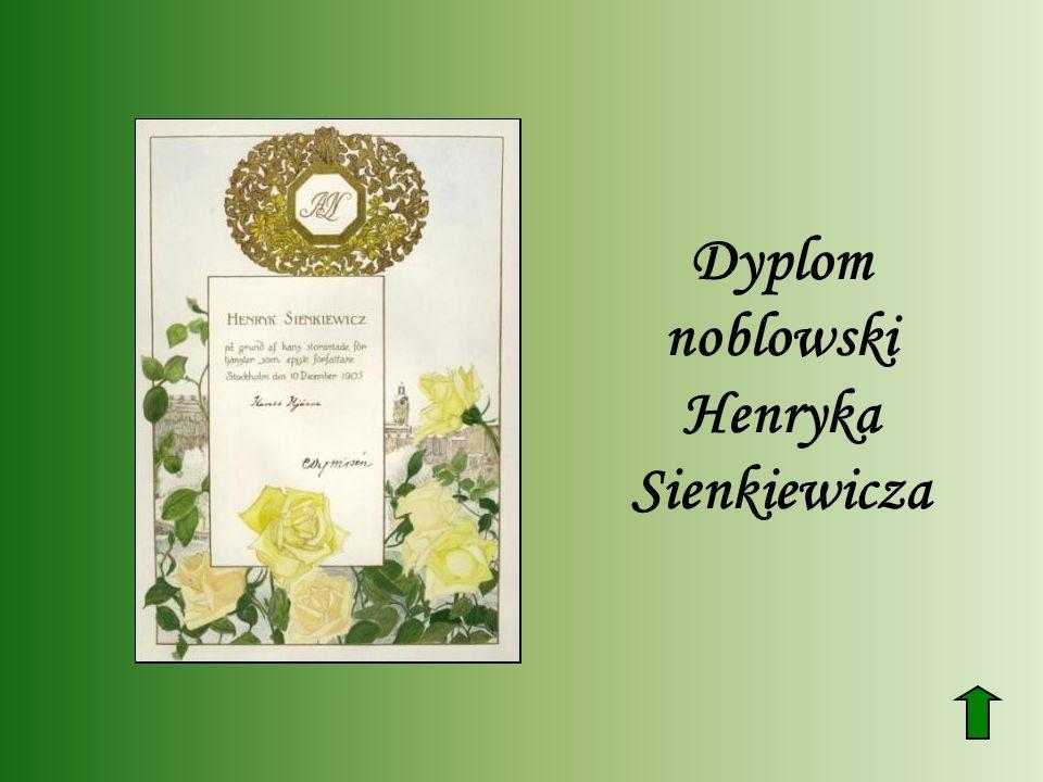 Dyplom noblowski Henryka Sienkiewicza