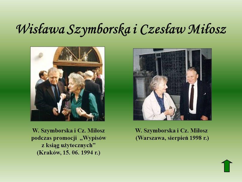 Wisława Szymborska i Czesław Miłosz