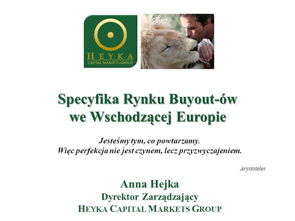 Specyfika Rynku Buyout-ów we Wschodzącej Europie