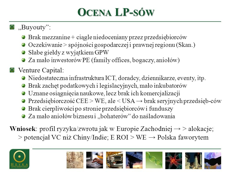 "Ocena LP-sów ""Buyouty : Venture Capital:"