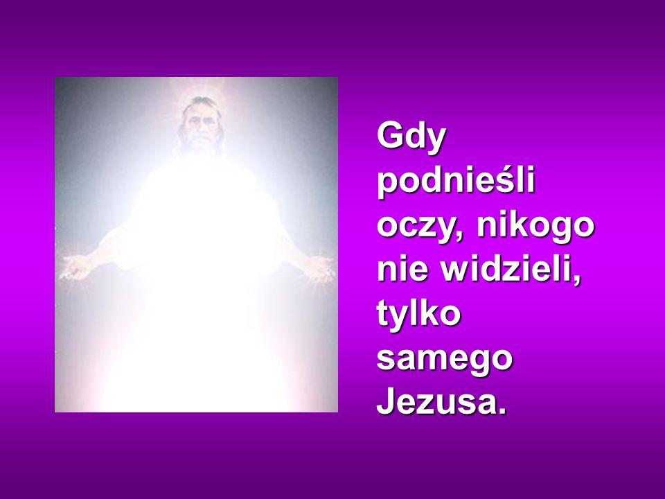Gdy podnieśli oczy, nikogo nie widzieli, tylko samego Jezusa.