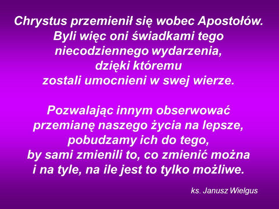 Chrystus przemienił się wobec Apostołów
