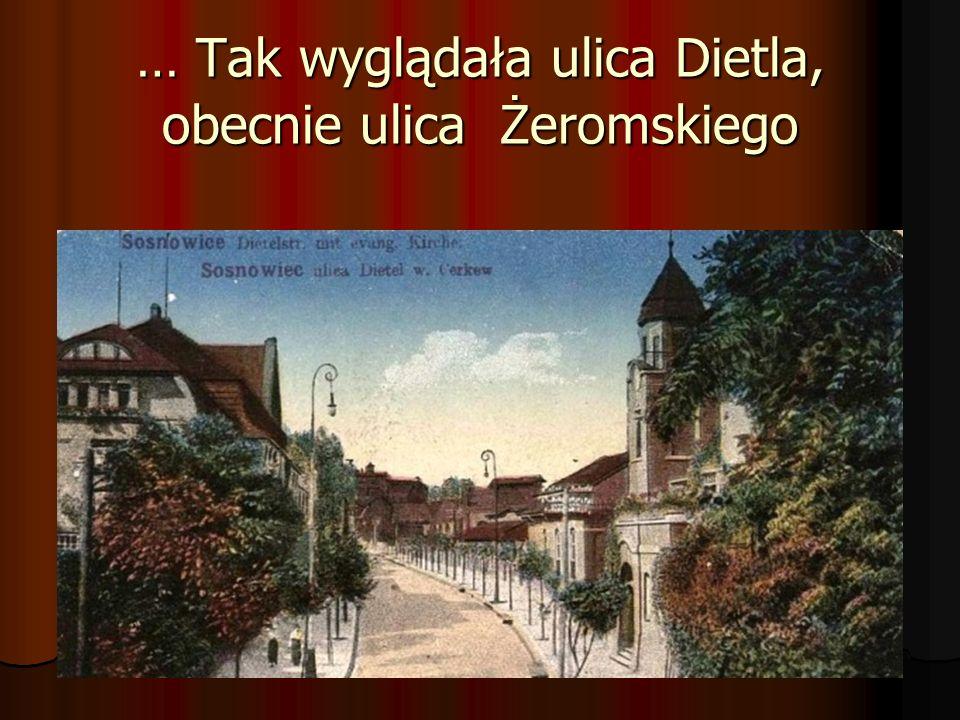 … Tak wyglądała ulica Dietla, obecnie ulica Żeromskiego