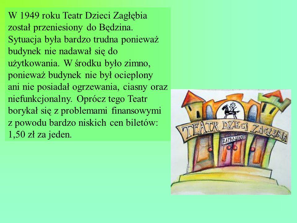 W 1949 roku Teatr Dzieci Zagłębia został przeniesiony do Będzina